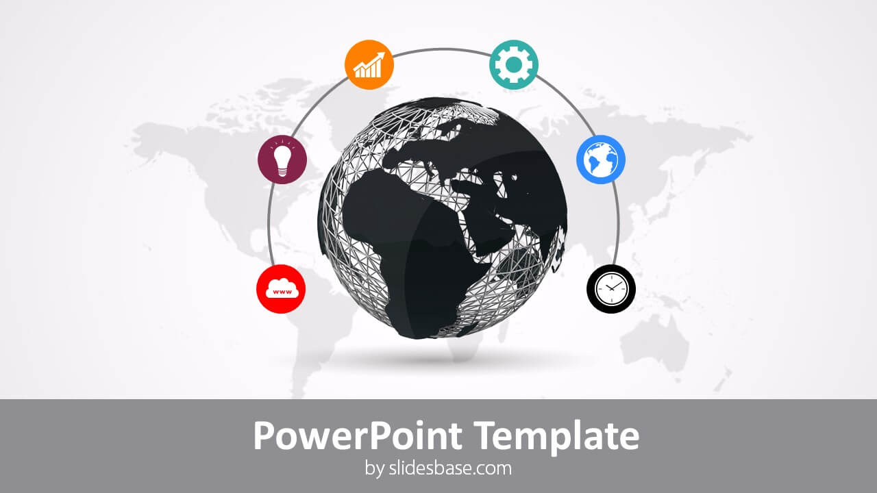 Global Line Powerpoint Template