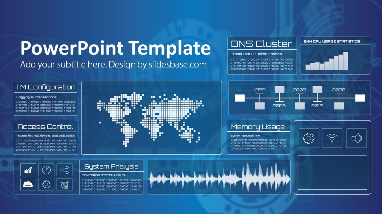 Technology Screen Powerpoint Template Slidesbase
