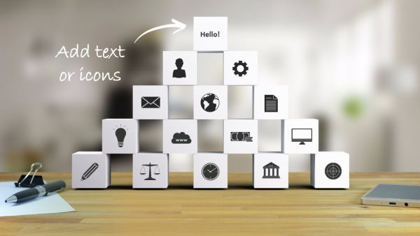 custom-text-or-icons-building-blocks-powerpoint-template-for-business