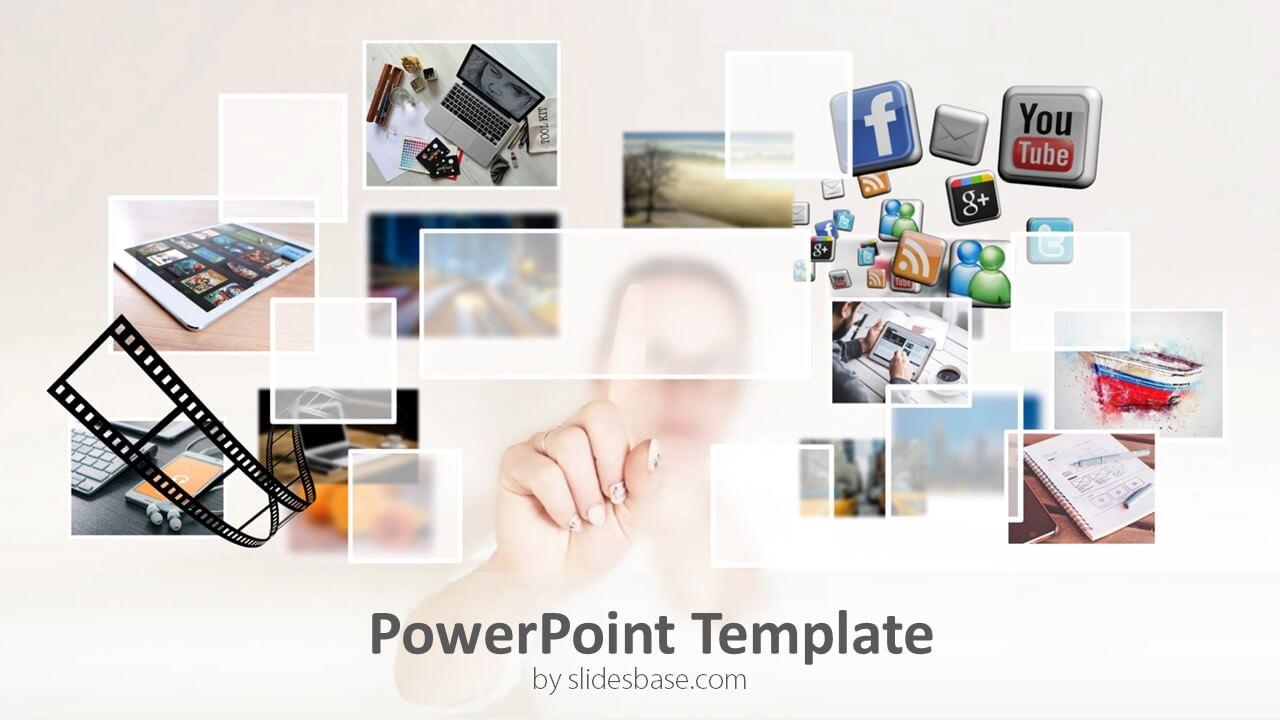 multimedia powerpoint template slidesbase