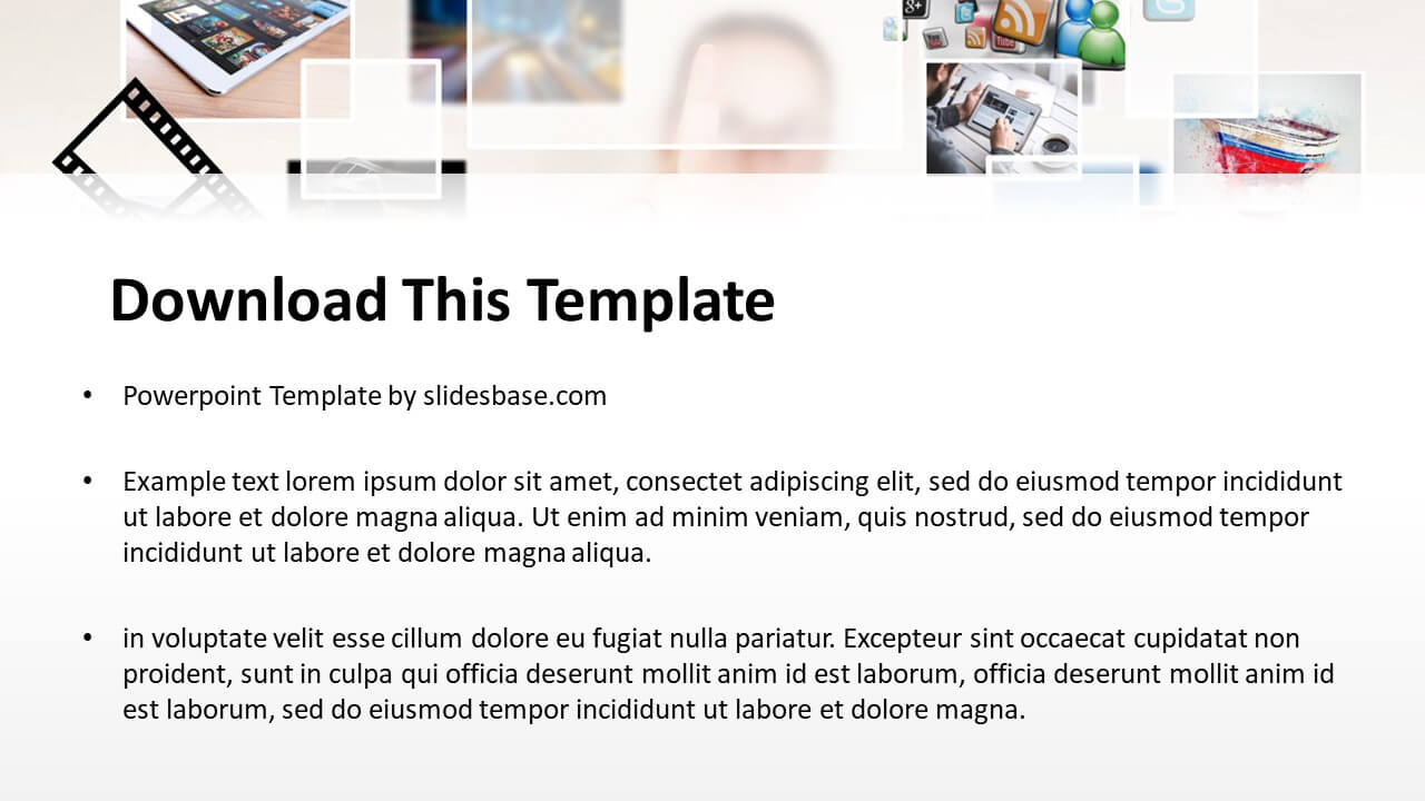 Multimedia powerpoint template slidesbase multimedia gallery 3d social media internet powerpoint ppt maxwellsz
