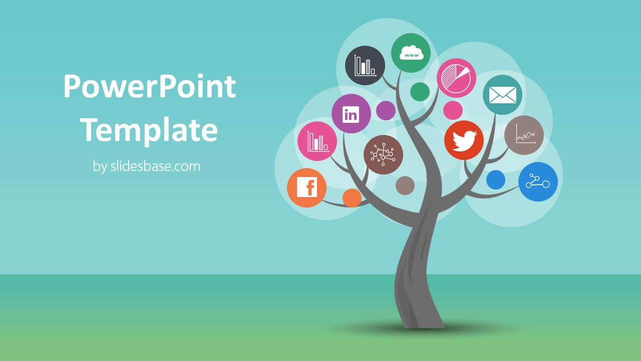 tree diagram powerpoint template slidesbase