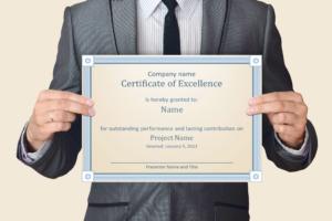 certificate-employee-reward-employee of the year