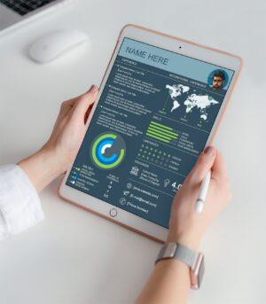 world-resume-infographic-international-bar chart